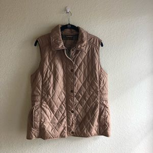 LL Bean Tan Vest Large